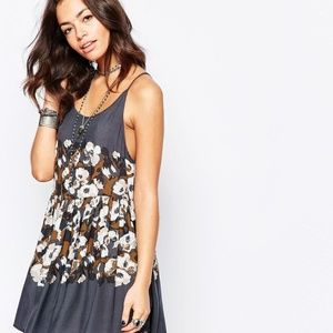 Free People Intimately Voile Floral Slip Dress